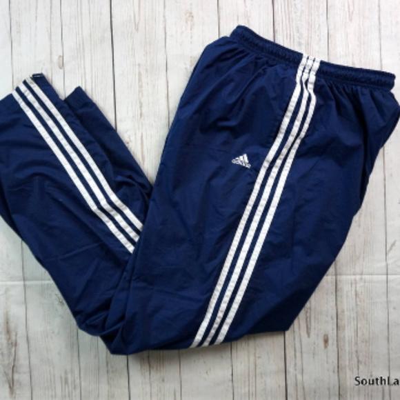 Vintage Adidas Lined Wind Pants Men's Large